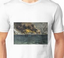 Bombardment of Fort Sumter, Charleston Harbor - 1861 - Currier & Ives Unisex T-Shirt