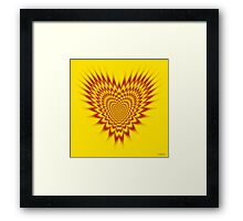 Heart in Flames Framed Print