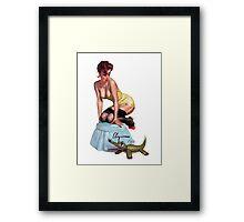 pin up girl Framed Print