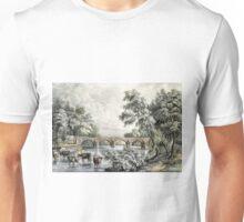 Bothwell Bridge, on the Clyde - 1880 - Currier & Ives Unisex T-Shirt