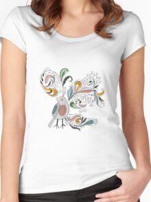 Flowers & Bird 2  Women's Fitted Scoop T-Shirt