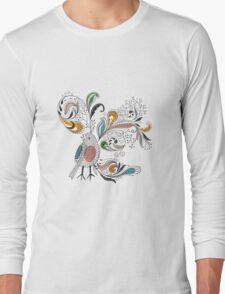 Flowers & Bird 2  Long Sleeve T-Shirt