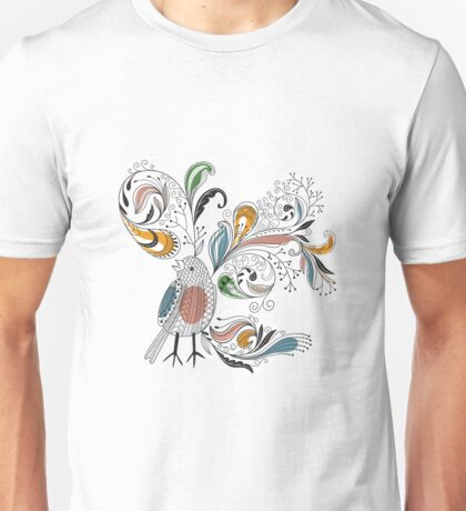 Flowers & Bird 2  Unisex T-Shirt