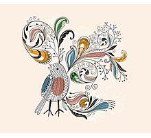 Flowers & Bird 2  Photographic Print