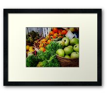 Fruit Basket Framed Print