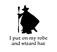 I Put On My Robe And Wizard Hat Photographic Print