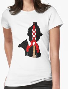 Tintin's Rocket Womens Fitted T-Shirt