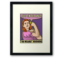 "Old Reliable Willow says ""Eat the banana now!"" Framed Print"