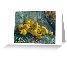 Vincent Van Gogh  Post- Impressionism Oil Painting, Still Life with Quinces, 1888 - 1889 Greeting Card