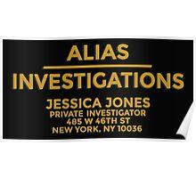 'Alias Investigations' Jessica Jones Inspired Print Poster