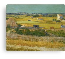 Vincent Van Gogh Post - Impressionism Oil Painting , The harvest, June 1888 - 1888 Canvas Print