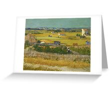 Vincent Van Gogh Post - Impressionism Oil Painting , The harvest, June 1888 - 1888 Greeting Card