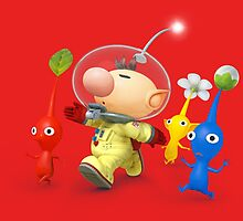 captain olimar and pikmin super smash bros by goneficri