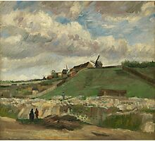 Vincent Van Gogh - The hill of Montmartre with stone quarry, June 1886 - July 1886 Photographic Print