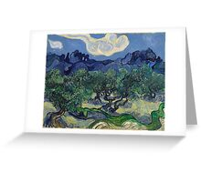Vincent Van Gogh Post - Impressionism Oil Painting, The Olive Trees, 1889 Greeting Card