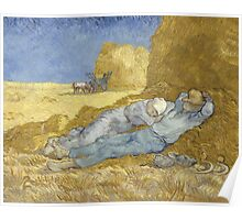 Vincent Van Gogh - The siesta, after Millet, 1890 Poster