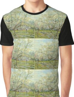Vincent Van Gogh Post- Impressionism Oil Painting The white orchard, April 1888 - 1888 Graphic T-Shirt