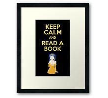 Keep calm and Read Framed Print