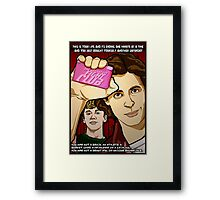 I am Brian's lack of surprise. Sincerely,The BFC. Framed Print