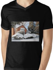 Winter Window Mens V-Neck T-Shirt