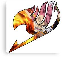 Fire natsu guild mark Canvas Print