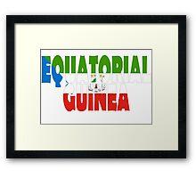Equatorial Guinea Framed Print