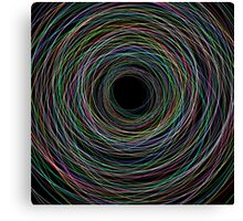 Hand Drawn Circular Lines Background Canvas Print