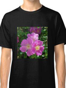 Bright Pink Shrub Roses Classic T-Shirt