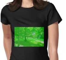 What is Making the Green Trees Cry? Womens Fitted T-Shirt