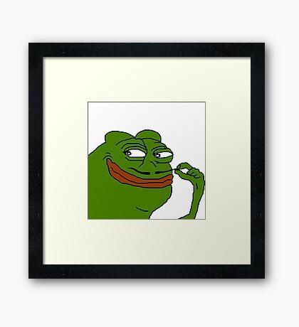 Damn you fine french Framed Print