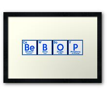 cowboy bebop periodic table anime manga shirt Framed Print