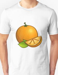 Orange with leaves Unisex T-Shirt