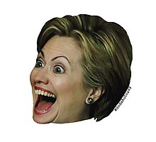 Hillary Clinton Wild Eyes Photographic Print