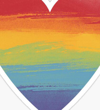 Rainbow Watercolour Heart Sticker