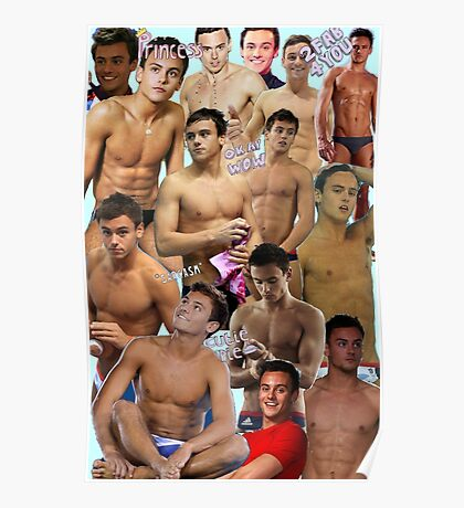 Tom Daley Collage Poster