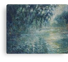 Claude Monet - Morning on the Seine Canvas Print
