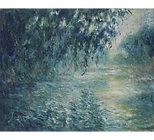 Claude Monet - Morning on the Seine Photographic Print
