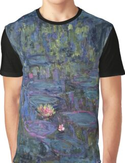 Claude Monet French Impressionism Oil Painting Waterlilies Graphic T-Shirt