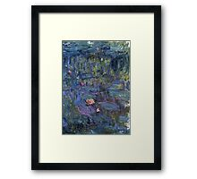Claude Monet French Impressionism Oil Painting Waterlilies Framed Print