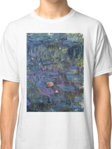 Claude Monet French Impressionism Oil Painting Waterlilies Classic T-Shirt