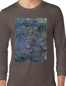 Claude Monet French Impressionism Oil Painting Waterlilies Long Sleeve T-Shirt