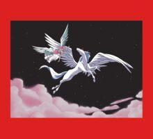 Pegasus winged unicorn - sailor cartoon Kids Tee