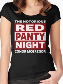 Conor Mcgregor, Red Panty Night Women's Fitted Scoop T-Shirt