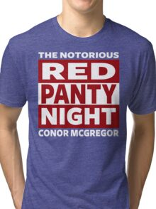 Conor Mcgregor, Red Panty Night Tri-blend T-Shirt