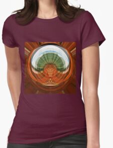 Window reflection as art Womens Fitted T-Shirt