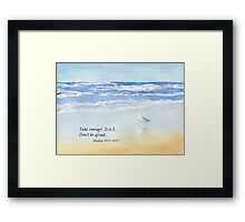 Courage in a Storm- Matthew 14:27 Framed Print