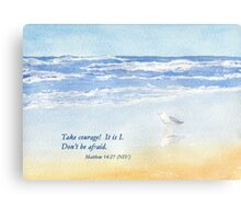 Courage in a Storm- Matthew 14:27 Metal Print