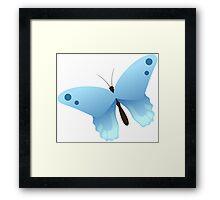 Cute cartoon butterfly Framed Print