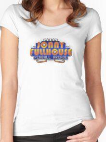 The World Famous Jonny Fullhouse Pinball Arcade Women's Fitted Scoop T-Shirt