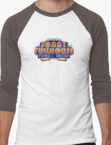 The World Famous Jonny Fullhouse Pinball Arcade Men's Baseball ¾ T-Shirt